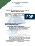 REQUISITOS PARA PRESENTACION DE PROYECTOS HIDROSANITARIOS
