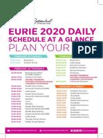 Schedule-2020 Oct19