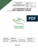 11. PROTOCOLO DESARROLLO DE ACTIVIDADES LABORALES E HIGIENE