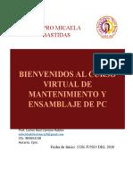 ENSAMBLAJE Y MANTENIMIENTO DE PC