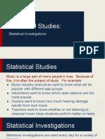 Statistical Studies
