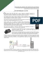 Conexão de rádios em bateria de ultraleve