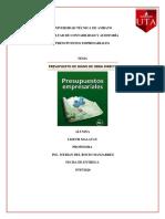 ORGANIZADOR GRAFICO PRESUPUESTOS PARA EMPRESAS DE MANUFACTURA  07.07.2020