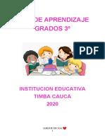 GUIA DE APRENDIZAJE. grado tercero.