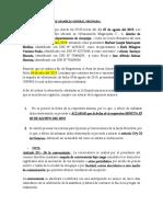 REAPERTURA DEL ACTA DE ASAMBLEA GENERAL ORDINARIA- ASCOCIACION