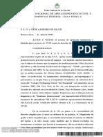 Jurisprudencia 2020- Discapacidad -S. S., T. c OSDE s Amparo de Salud