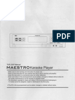 TJ Media TKR-335P Maestro Karaoke Player Manual