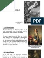 Absolutismo, mercantilismo e Ilustración
