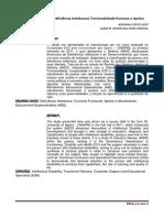 A triangulação entre Deficiência Intelectual, Funcionalidade Humana e Apoios