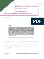 La despresencialización de la educación superior en america latina.. tema de calidad, cobertura, de internacionalizacion o de financiamiento.pdf