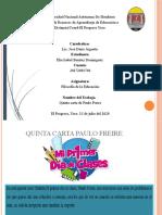Quinta carta de Paulo Freire