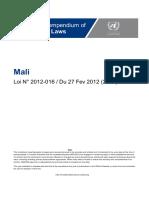 Mali - Code Des Investissements