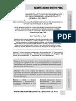 El Recurso Administrativo de Reconsideración en La Ley Del Procedimiento Administrativo General Del Perú - Autor José María Pacori Cari
