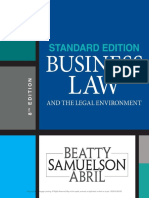 Jeffrey F. Beatty, Susan S. Samuelson, Patricia Sanchez Abril - Business Law and the Legal Environment, Standard Edition-Cengage Learning (2018).pdf