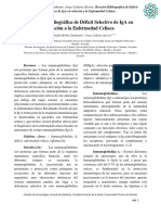 Revisión Bibliográfica de Déficit Selectivo de IgA en relación a la Enfermedad Celíaca