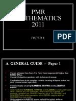 Pmr Mathematics