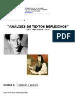Análisis de textos reflexivos