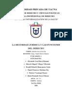 La Seguridad Jurídica y Las Funciones Del Derecho (1)