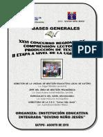 Bases Del Concurso de Comprensión y Producción de Textos 2010 Rode Huillca