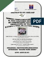 Directiva 022-2010 Concurso de Comprensión Lectora y Producción de Textos Rode Huillca