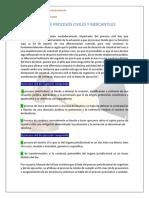 CLASES DE PROCESOS CIVILES Y MERCANTILES