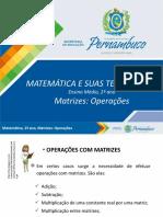 Matrizes - Operações
