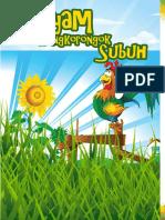 Buku Dongeng Bergambar Untuk Anak Ukuran A5 (Hayam Kongkorongok Subuh)