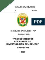 PROC. POLICIALES DE INVESTIGACIÓN DEL DELITO 3ER AÑO