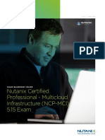 Nutanix NCP-MCI 5.15 Exam Blueprint READ