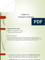 Chapter 2- PREPARING THE ORGANIZATION