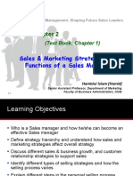 Sales Management (Chapter 2) - Sales Straeties and Functions of a Sales Manager....