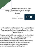 Pertemuan Keempat Bab 1 Penanganan Pelanggaran Hak dan Pengingkaran Kewajiban Warga Negara.pptx