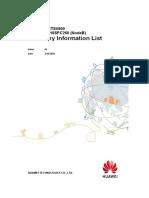 BTS3900&BTS5900 V100R015C10SPC260 (NodeB) Inventory Information List
