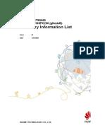 BTS3900&BTS5900 V100R015C10SPC260 (gNodeB) Inventory Information List