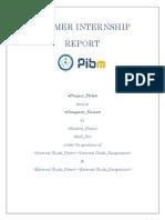 SIP Report Format Batch 2019-21