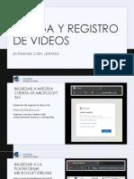 Carga y Registro de videos - Examenes con Jurado