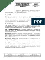 20- Programa de mantenimiento de instalaciones, equipos, maquinas y herramientas