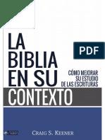 La Biblia en Su Contexto e28094 Craig s Keener