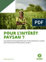 Paysannes et paysans  laissés pour compte des financements public- privé.pdf