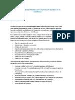 RESUMEN SOMERO DE LA INSPECCION Y CALIFICACION DEL PROCESO DE SOLDADURA