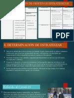 Determinación de objetivos estratégicos Y determinación de estrategias EJEMPLO