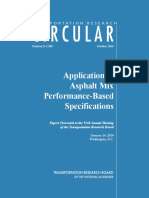 application of asphalt mix perfromance based specifications