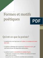 Formes et motifs poétiques