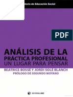 Copy of Análisis de la práctica profesional. Un lugar para pensar