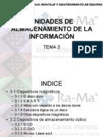 MÓDULO 3 - UNIDADES DE ALMACENAMIENTO DE LA INFORMACIÓN
