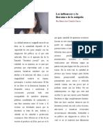 Los influencers y la literatura de lo estúpido Maria José Castilla 9A
