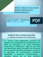 MODELO DEFINITIVO  PARA LA EVALUACIÓN DE CARRERAS PRESENCIALES. Ramiro Cazar- 05-2014