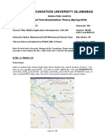 Final Term Paper Mobile Application Development- Theory
