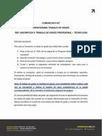 COMUNICADO CICLO III 2020 TRABAJO DE GRADO