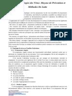Chap 2 Typologies des Virus- Moyens de Prévention et Méthodes De Lutte